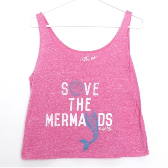 Salt Life Tops - Salt Life Save the Mermaids Tank NWOT